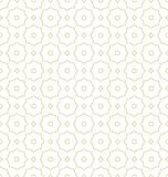 Gold on white dotted line hexagonal molecular pattern seamless repeat background. Two colour dotted line hexagonal molecular pattern seamless repeat background Royalty Free Stock Images