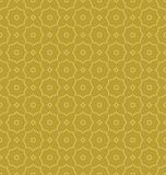 White on gold dotted line hexagonal molecular pattern seamless repeat background. Two colour dotted line hexagonal molecular pattern seamless repeat background Royalty Free Stock Photography