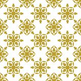 Gold on white geometric tile with clubs seamless repeat pattern background. Two colour geometric tile with clubs seamless repeat pattern background. Could be Stock Photos