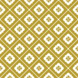 White on gold geometric tile with diamond line seamless repeat pattern background. Two colour geometric tile with diamond line seamless repeat pattern background Royalty Free Stock Photography