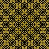 Gold on black geometric tile oval and circle seamless repeat pattern background. Two colour geometric tile oval and circle seamless repeat pattern background Stock Images
