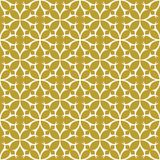 White on gold geometric tile thorn circle seamless repeat pattern background. Two colour geometric tile thorn circle seamless repeat pattern background. Could be Royalty Free Stock Image