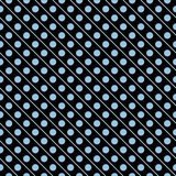 Light blue on black line and polka dots in lines seamless repeat pattern background Royalty Free Stock Photo
