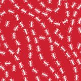 White on red random ant lines pattern seamless repeat background Royalty Free Stock Images