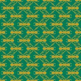 Gold on green ant geometric pattern seamless repeat background. Two colour simple ant geometric pattern seamless repeat background. Could be used for background Stock Images