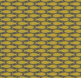 Gold on grey simple fish pattern seamless repeat background. Two colour simple fish pattern seamless repeat background. Could be used for background pattern Stock Images