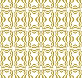 Gold on white three ball shaped Chinese lantern pattern seamless repeat background. Two colour three ball shaped Chinese lantern pattern seamless repeat Stock Image
