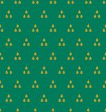 Gold on green tree in triangle pattern seamless repeat background. Two colour tree in triangle pattern seamless repeat background. Could be used for background Royalty Free Stock Photos