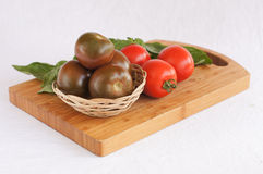 Two colours of tomatoes Royalty Free Stock Images