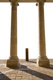 Two column. Two classic column with white background Stock Photography