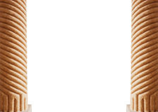 Two columns isolated on white background Royalty Free Stock Photo