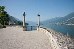 Two columns lakeside, Como, Italy. Royalty Free Stock Photos