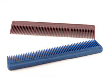 Two combs. On the white background Royalty Free Stock Image