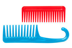 Two combs. On a white background Royalty Free Stock Photo
