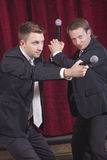Two comedians acting Stock Photography