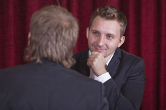 Two comedians playing spectacular royalty free stock photography