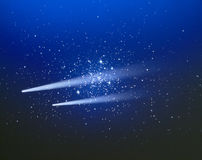 Two Comets in the Night Sky Royalty Free Stock Images