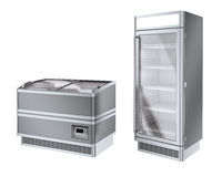 Two commercial refrigerator Stock Photos