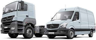 Two commercial vehicle Royalty Free Stock Photo