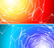 Two communication backgrounds. Royalty Free Stock Photos