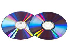 Two  compact disk on a white background Stock Photos