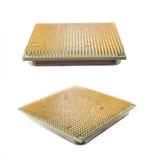 Two computer chip closeup stock photos