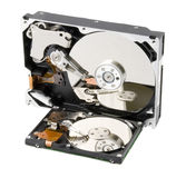 Two computer hard disk royalty free stock photos
