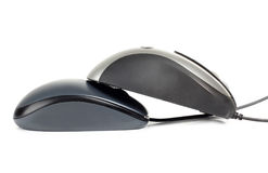 Two computer mouse Stock Photo