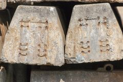 Two Concrete Sleepers royalty free stock image