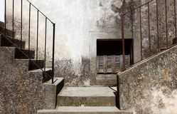 Two concrete stairways going left and right Royalty Free Stock Photos