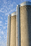 Two Concrete Stave Silos Stock Photography
