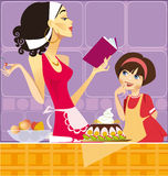 Two confectioners royalty free illustration