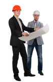 Two confident architect partners Royalty Free Stock Images