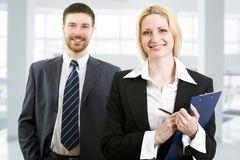 Two confident business people Royalty Free Stock Photo