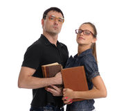 Two confident students Stock Photography