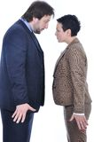 Two confronted persons Royalty Free Stock Photos