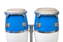 Two congas isolated Stock Image