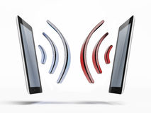 Two Connected tablets PC Royalty Free Stock Photo