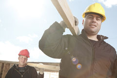 Two construction  men working outside Stock Photography