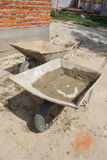 Two construction wheelbarrows Royalty Free Stock Images