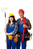 Two construction workers Royalty Free Stock Photos