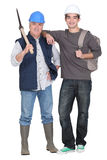 Two construction workers Stock Image