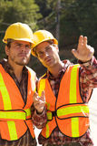 Two Construction Workers at the job Stock Photography