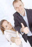 Two contemporary businesspeople Royalty Free Stock Images