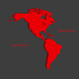 Two continents North and South America Royalty Free Stock Images