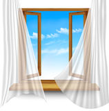Two contrasting sky banners - Day and Night. Vector Royalty Free Stock Image