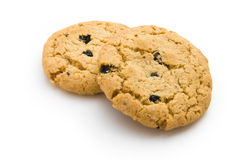 Two cookies. On white background stock images