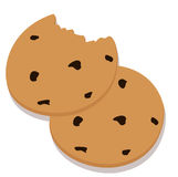 Two cookies Royalty Free Stock Photos