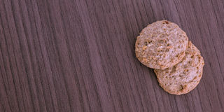 Two cookies Stock Photography