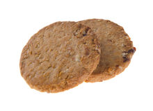 Two cookies, homemade cookies on background Royalty Free Stock Image